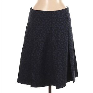 Ann Taylor Loft Skirt A Line Blue Black Size 6 NEW